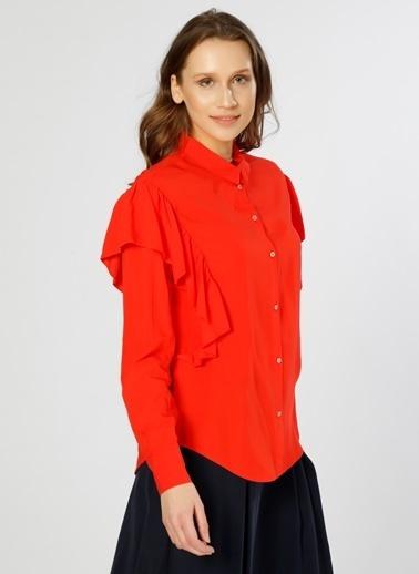 Only Only  Kol Detaylı Kırmızı  Gömlek Kırmızı